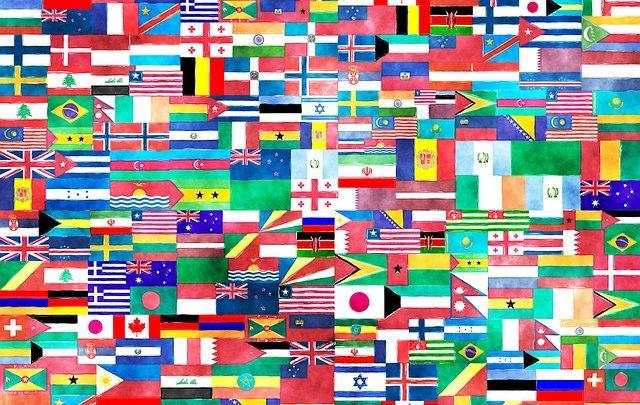 اعلام الدول لجميع دول العالم مع مساحتهم و عدد السكان هيلاهوب