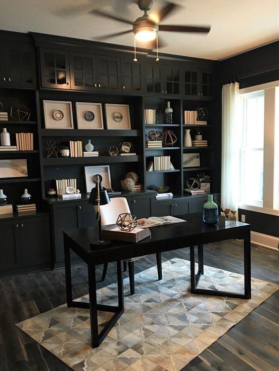 افكار مكاتب خشبية كلاسيك (1)