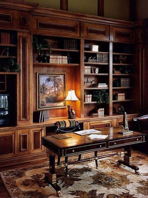 مكاتب منزلية خشبية