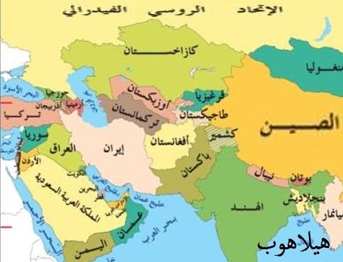 خريطة اسيا الطبيعية Kharita Blog