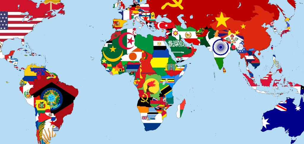 خريطة العالم بالاعلام والاسماء عالية الدقة - هيلاهوب
